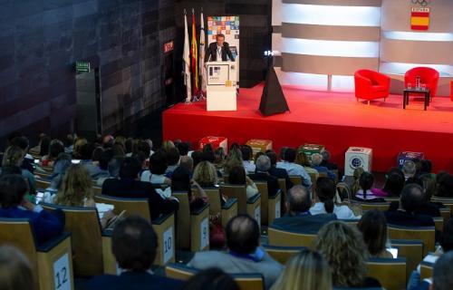 El presidente de la Red Española del Pacto Mundial, Ángel Pes, durante su discurso.