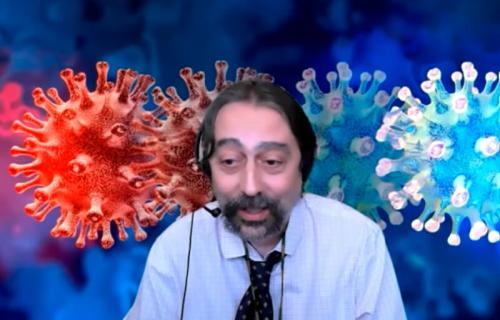 Adolfo García Sastre durante la videoconferencia