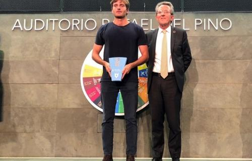 Antonio Espinosa de los Monteros, CEO de Auara y el presidente de la Red Española del Pacto Mundial, Ángel Pes