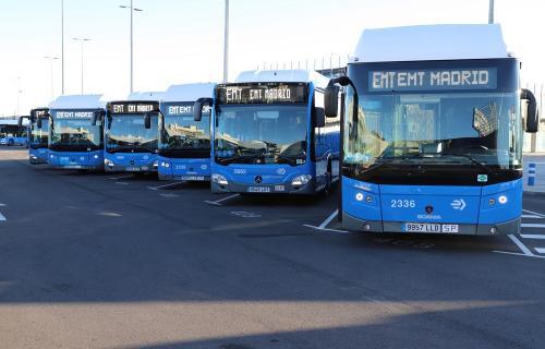 Flota de autobuses de la EMT.