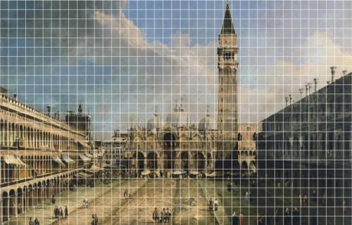 El famoso cuadro dividido en secciones.