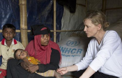 Cate Blanchett, actriz y embajadora de buena voluntad de ACNUR.