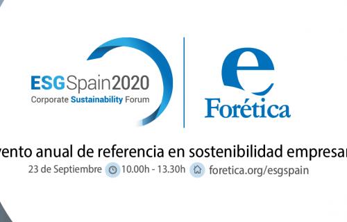 El  'ESG Spain 2020: Corporate Sustainability Forum' es el encuentro de referencia en sostenibilidad empresarial en España.