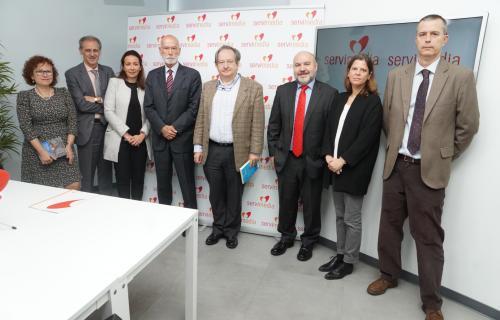 Participantes en la presentación del libro 'Discapacidad y Fiscalidad'.