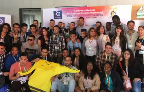 Jóvenes participantes en un Encuentro de Escuelas de Segunda Oportunidad, en Sevilla.