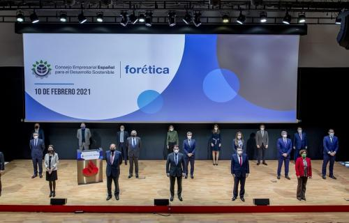 Miembros del Consejo Empresarial Español para el Desarrollo Sostenible.