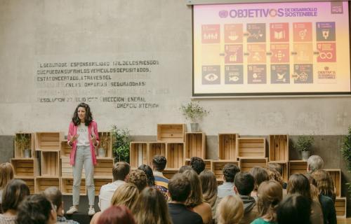 Mujeres en Impact Hub Madrid.