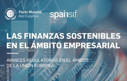 Cartel de la jornada 'Las finanzas sostenibles en el ámbito empresarial'