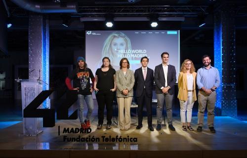 Presentación de '42, la escuela de tecnología de Fundación Telefónica en Madrid.