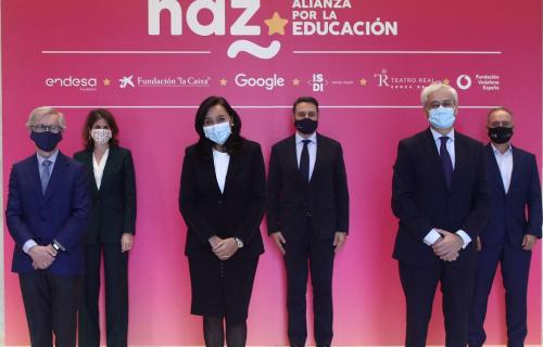 Representantes de organizaciones miembros de HAZ, en la presentación de la alianza.