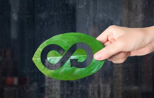 Símbolo de la economía circular.