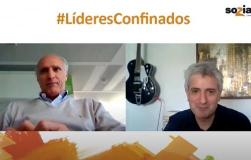 Ignacio Sánchez Villares durante la videoentrevista con Soziable.es