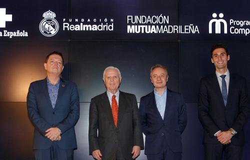 De izda. a dcha: Gregori, Sánchez, Cooklin y Arbeloa.