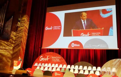 Juan Antonio Pedreño, durante su intervención en el GSEF.
