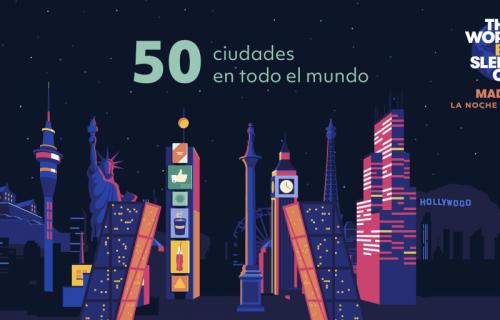 Cartel de 'La Noche sin Hogar' en Madrid.