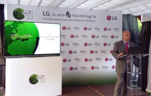 Jaime de Jaraíz, presidente y CEO de LG Iberia, durante la presentación del Reto 'Smart Green'.