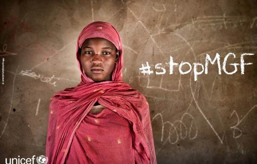 Imagen de Unicef contra la mutilación genital femenina.
