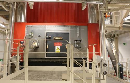 Nueva caldera de la fábrica de Nestlé en Girona.