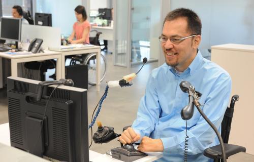 Trabajador con discapacidad.