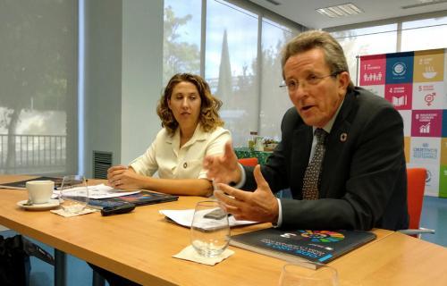 Ángel Pes y Cristina Sánchez, presidente y subdirectora respectivamente de la Red Española de Pacto Mundial.