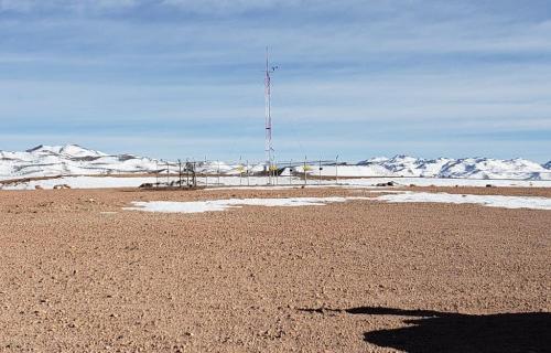 La Laguna Colorada, donde se ubicará la central.
