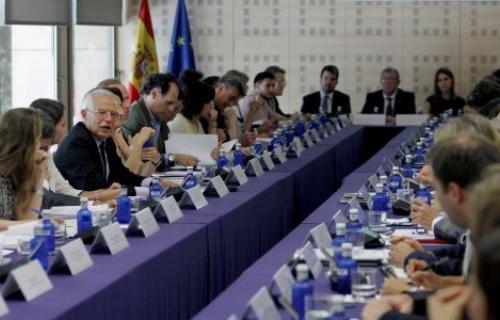 Josep Borrell presidió la reunión del Grupo de Alto Nivel para la Agenda 2030.