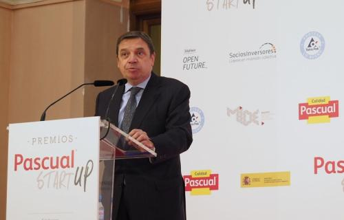 El ministro de Agricultura, Pesca y Alimentación, Luis Planas, durante su intervención