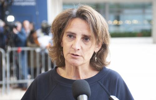 Teresa Ribera, antes de participar hoy en el Consejo de Ministros de Medio Ambiente de la UE (Foto: Ministerio para la Transición Ecológica).