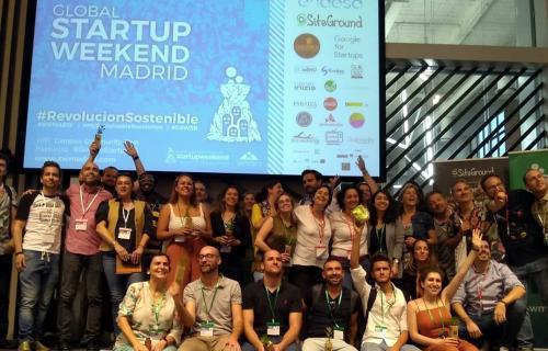 Los equipos ganadores de Startup Weekend.