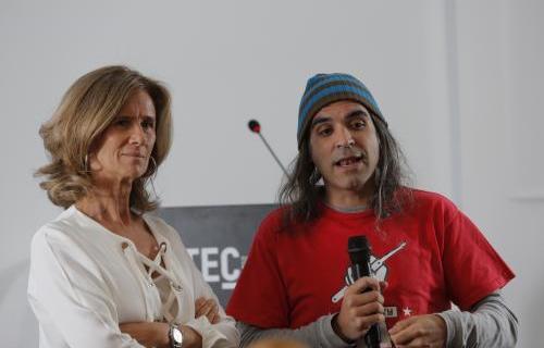 La presidenta de Cotec, Cristina Garmendia, y Chema Alonso, Chief Data Officer de Telefónica.