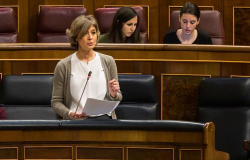 La ministra de Agricultura y Pesca, Alimentación y Medio Ambiente, Isabel García Tejerina, en el Congreso.