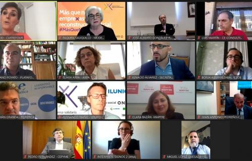 Captura del evento virtual en el que se ha presentado la campaña 'Ahora más que nunca empreXas'.