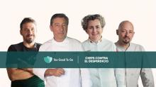 Cada chef aporta una receta elaborada con desechos de comida