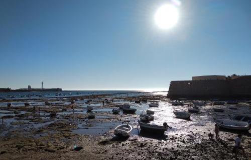 Playa de La Caleta, en Cádiz.