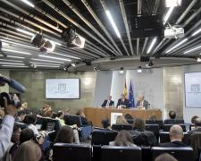 Imagen de la rueda de prensa posterior al Consejo de Ministros.