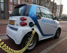 Suministro de energía eólica a un coche eléctrico