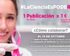 #LaCienciaEsPodeRosa, a favor de la Asociación Española Contra el Cáncer