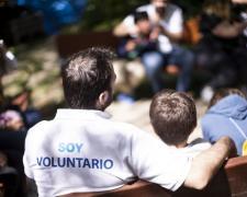 Un voluntario de la Fundación Mutua Madrileña.
