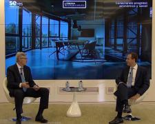 Fernando Ruiz y Gonzalo Gortázar durante el foro #LíderesResponsables