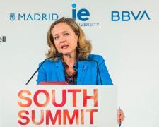 Nadia Calviño, durante su discurso inaugural
